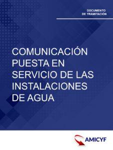 COMUNICACIÓN PUESTA SERVICIO INSTALACIONES AGUA