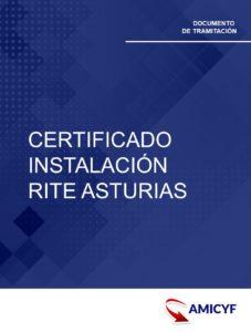 CERTIFICADO INSTALACIÓN RITE ASTURIAS