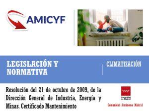 Modelo de Certificado de Mantenimiento de Madrid