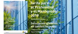 YGNIS Tarifa mantnedor 2019