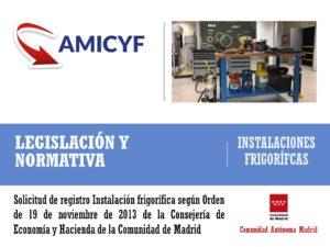 Solicitud tramitación Instalación Frigorífica Madrid